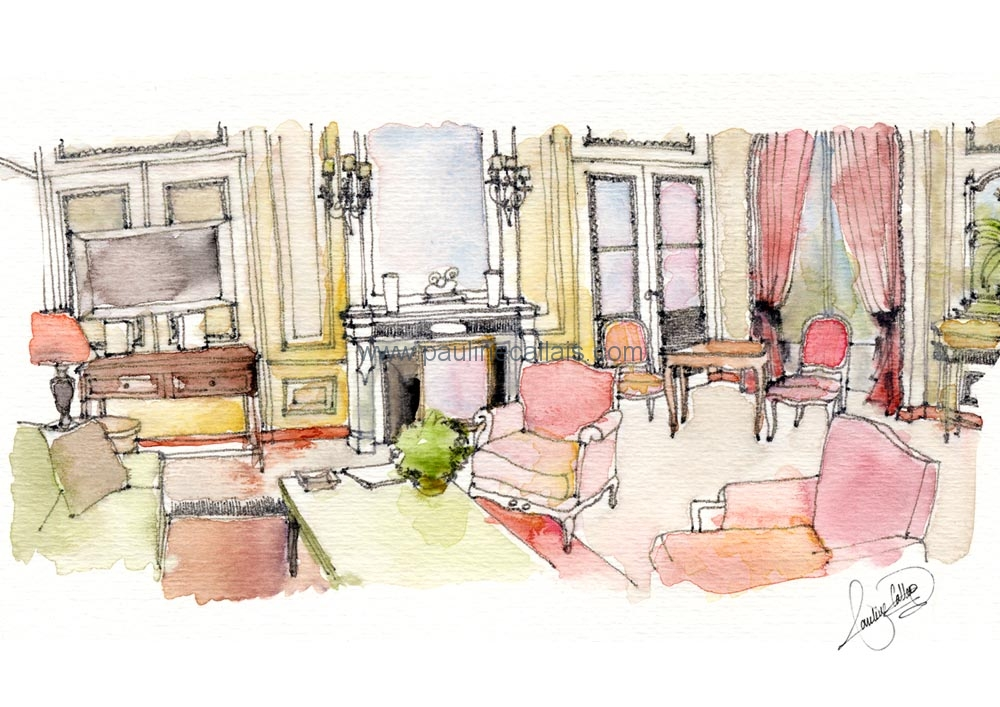 interior watercolour_plaza4