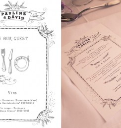 wedding stationery3 menu