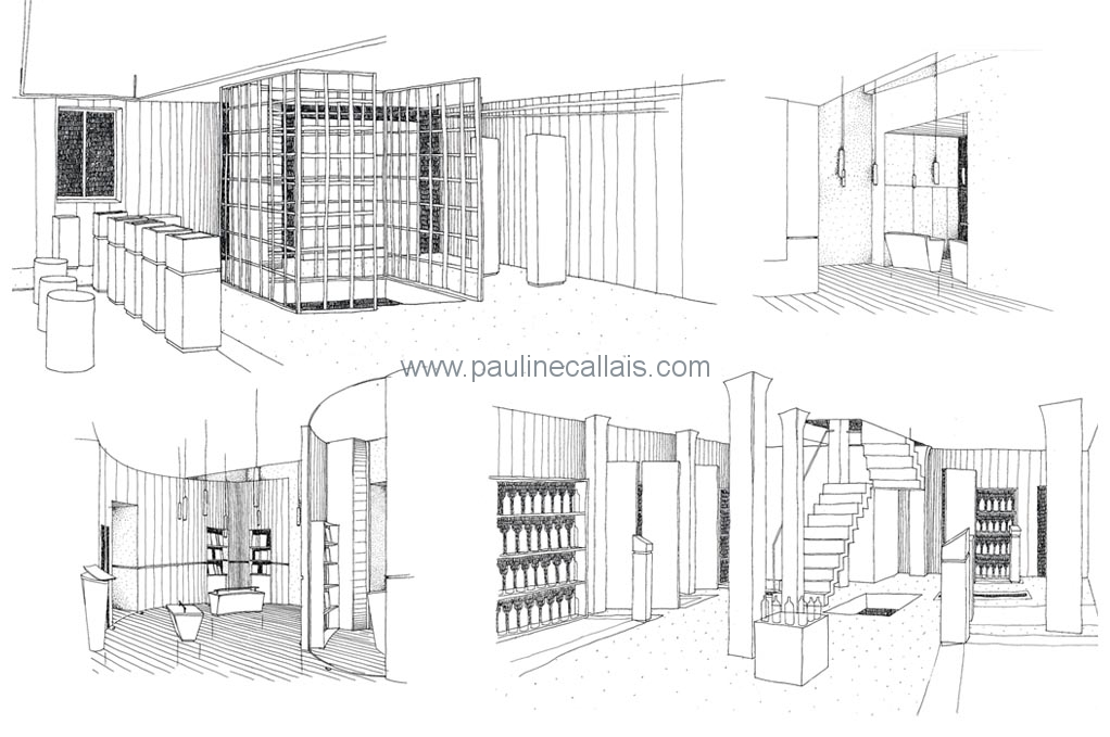 interior pers_b&w lines